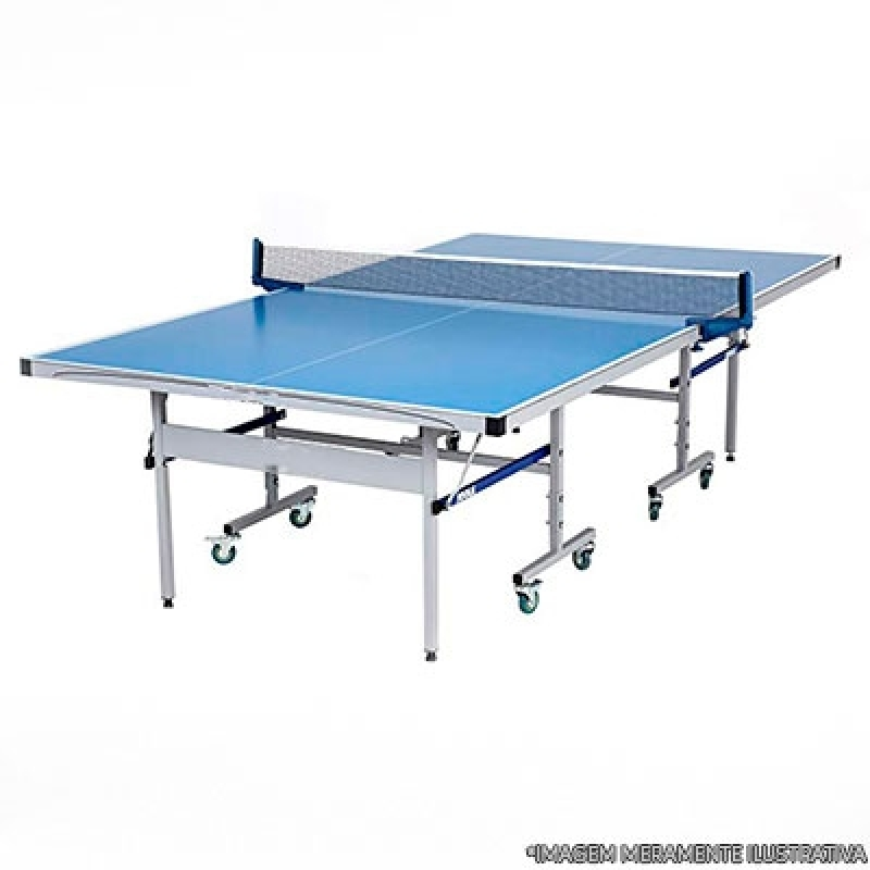 Mesa de Ping Pong com Rodas Orçar Saúde - Mesa de Ping Pong Pequena