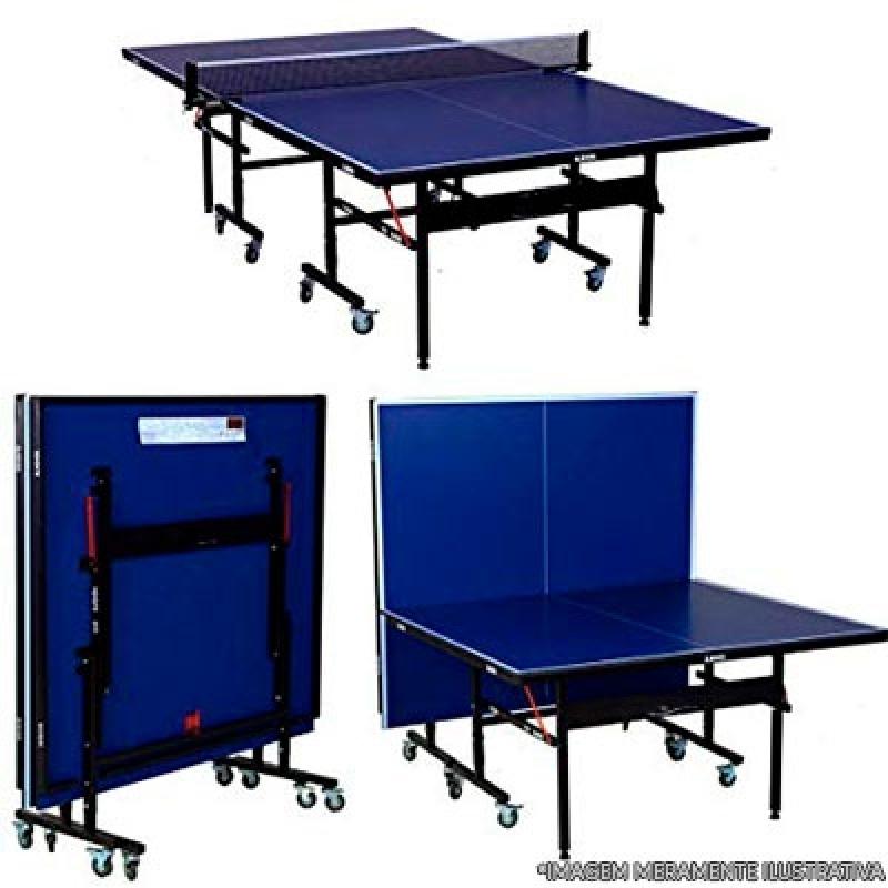 Mesa de Ping Pong com Rodas Ferraz de Vasconcelos - Mesa de Ping Pong Pequena