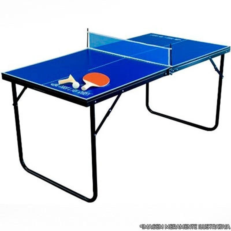 Mesa de Ping Pong Pequena Niterói - Mesa de Ping Pong Profissional