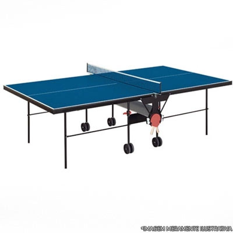 Mesa Oficial de Ping Pong Morumbi - Mesa de Ping Pong Dobrável com Rodinhas
