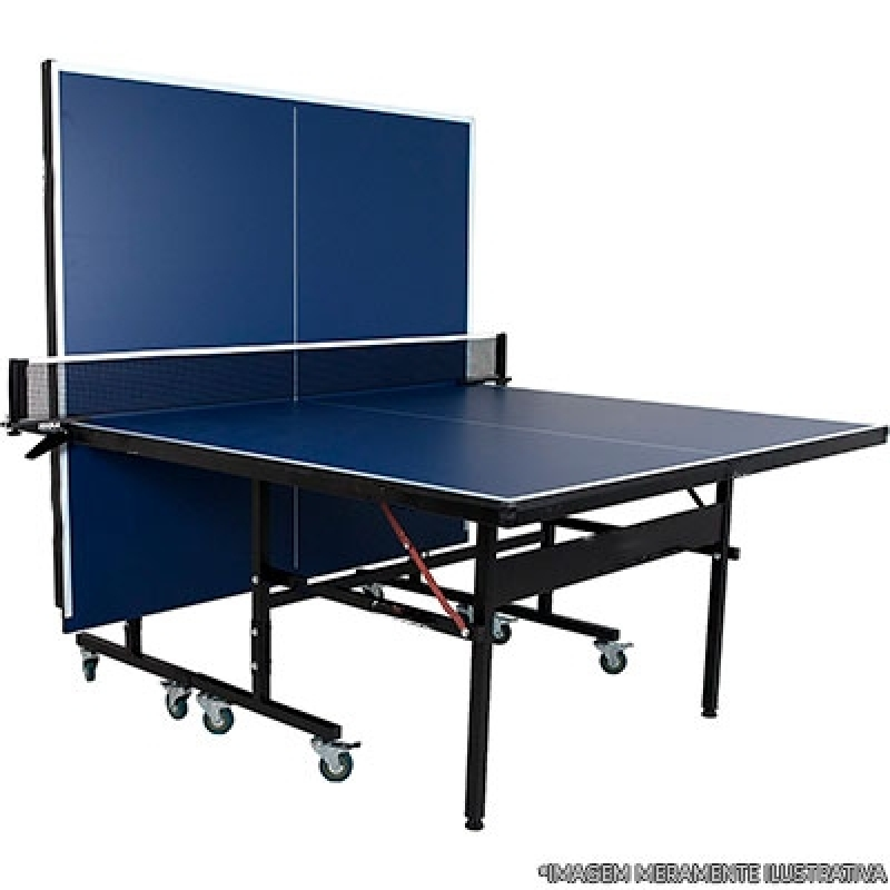 Mesas de Ping Pong Grandes Suzano - Mesa de Ping Pong Dobrável com Rodinhas