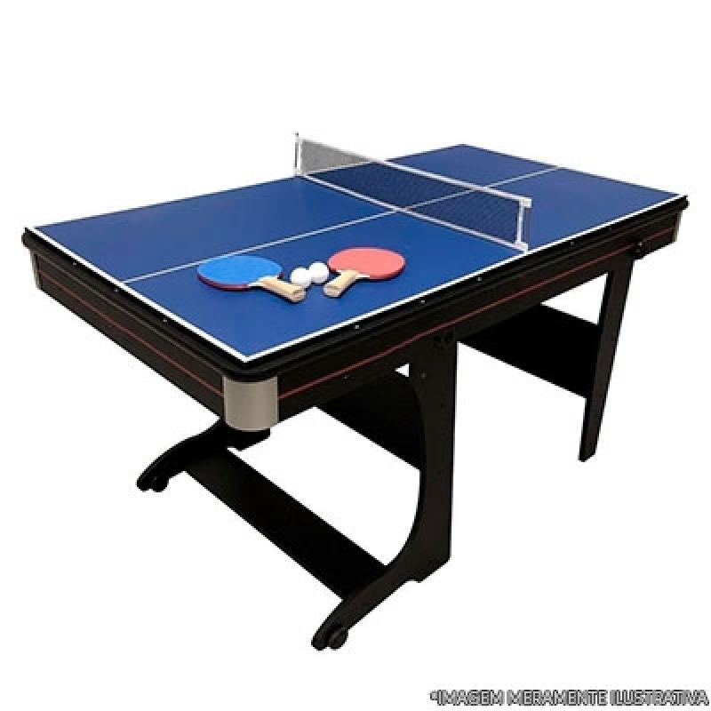 Mesas Profissionais de Ping Pong Itaquera - Mesa de Ping Pong Dobrável com Rodinhas