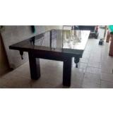 mesa de bilhar com tampo valor Guararema