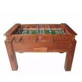 mesa de pebolim de madeira Jockey Club