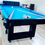 mesa de bilhar preta